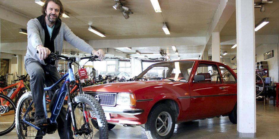 Medieomtale – Hos Per kan du bytte bilen i en elsykkel